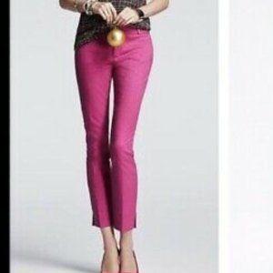 Banana Republic Pink Textured Camden Pants 6